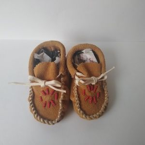 Other - Navajo Handmade Beaded Baby Mocassins - Used